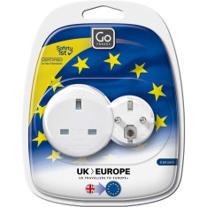 Accessories Travel Go Travel Adaptors 525 Uk- Eu Twin Adaptor Assorted