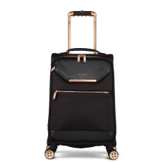 Luggage Ted Baker Albany Collection TBW5003 4 Wheel Cabin Case Black Rose Gold