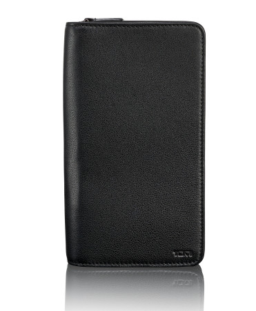 Accessoires Tumi   Nassau 96344 Zip Around Travel Wallet Rfid Black Textured