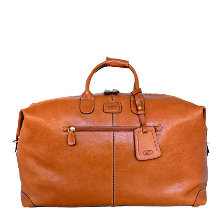 Bags Brics Luggage Pelle BPL20202 Medium Holdall Tan