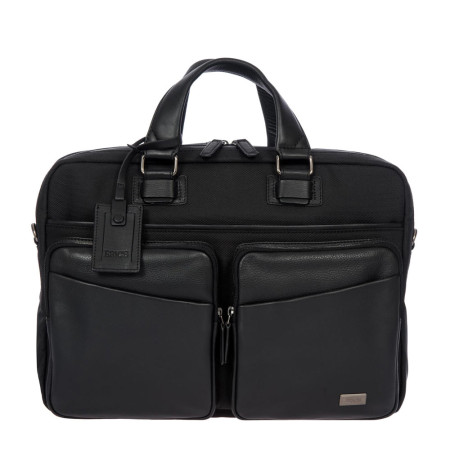 Bags Brics Luggage Monza BR207704 2 Compartment Brief Black