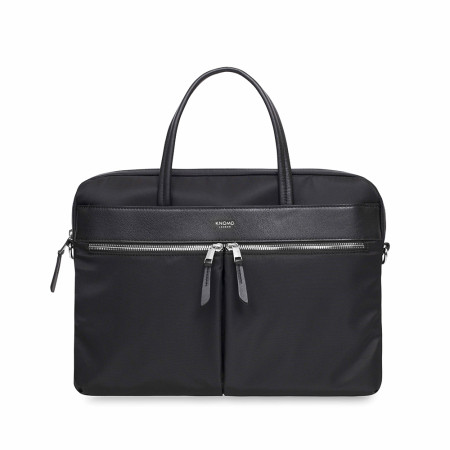 "Accessories Knomo Mayfair 119-101 Hanover 14"" Slim Brief Black"