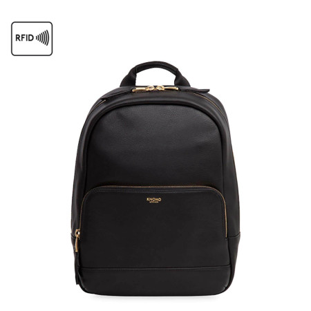 """Casual Knomo Mayfair Luxe 120-405 Mini Mount 10"""" Backpack Black"""