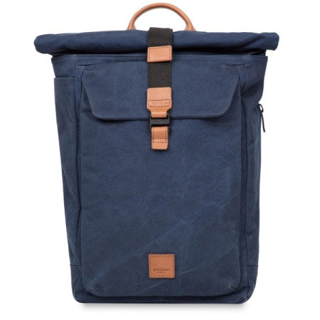 """Accessories Knomo Fulham 159-402 Novello 15"""" Rolltop Backpack Navy"""