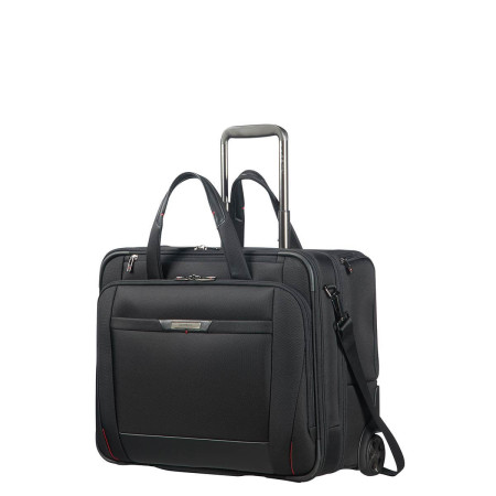 "Business Samsonite Pro Dlx 5 106365 Rolling Tote 17.3"" Black 1041"
