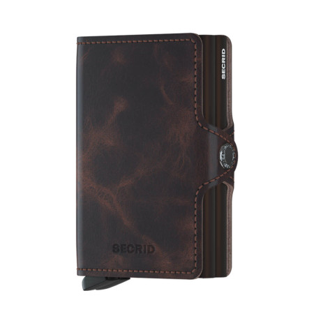 Accessories Secrid Twin Wallets TWIN VC Twin Wallet 8-12 Cards & Notes Vintage Chocolate