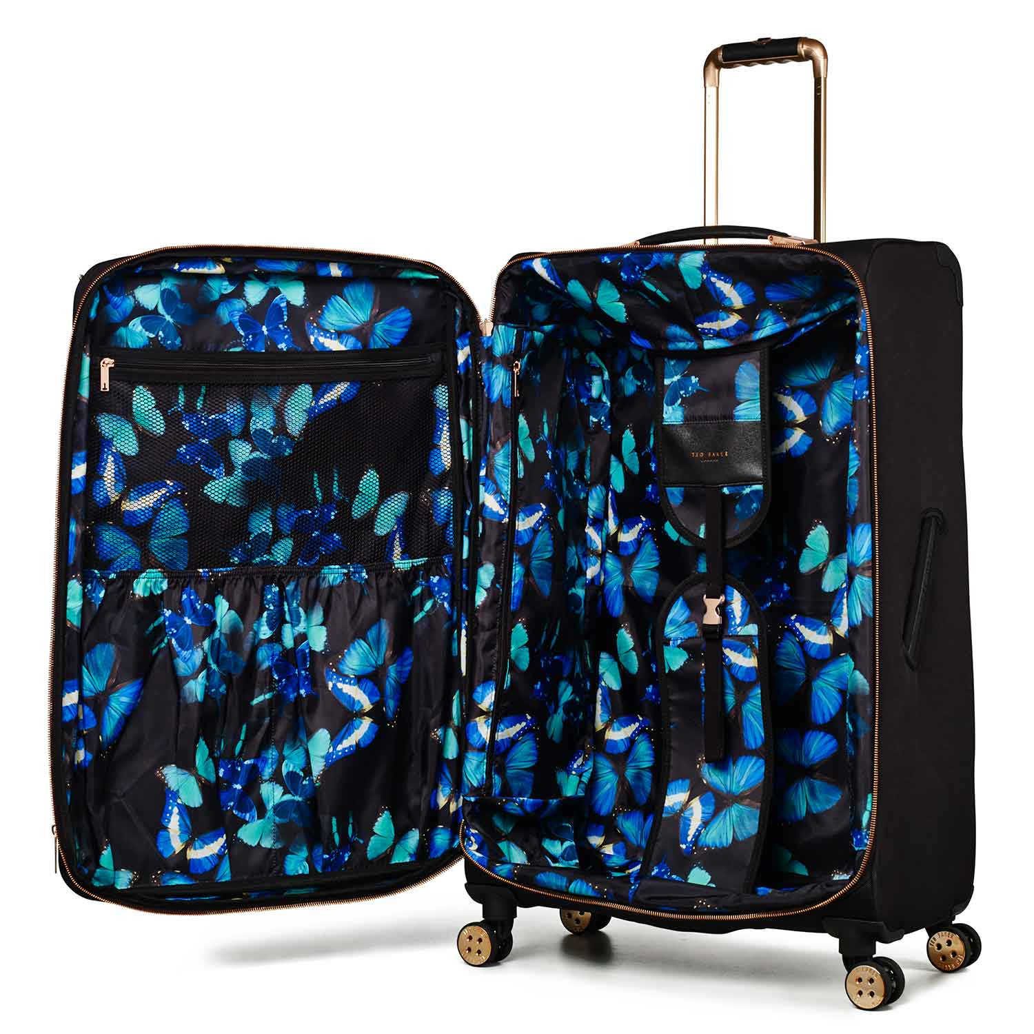 Luggage Ted Baker Albany Collection TBW5001 4 Wheel Large Case Black Rose  Gold alt3 4b399524f
