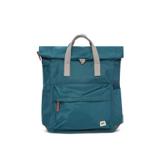 Casual Roka Canfield B Classic CANFBMTEA Rolltop Small Pocket Backpack Tote Teal