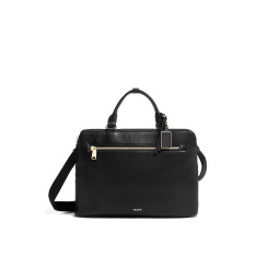 Business Tumi Voyageur Leather 135496 Ivy Business Brief Black 1041
