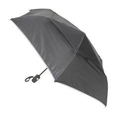 Accessories Tumi Umbrellas 14415 Medium Auto Close Umbrella Black