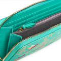 Accessories Sara Miller Playing Birds SMP1008-001 Large Zip Around Purse Green Birds_alt3